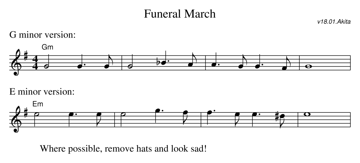 Sheet music for the dance Duel of Honour